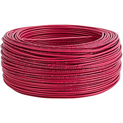 Alambre de cobre aislado 1,5 mm2 100 m Rojo