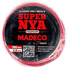 Alambre de cobre aislado 2,5 mm2 Rojo 100 m
