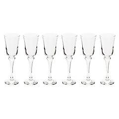 Set de copas flute vidrio 200 ml 6 unidades transparente