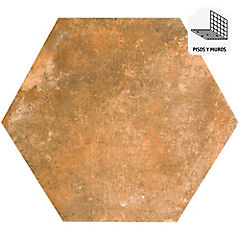 Porcelanato 33x28,5 cm Café