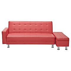 Futón 79x174x86 cm rojo