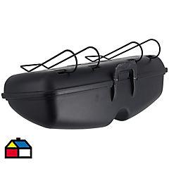 Estuche de lentes acero Negro 16,5x7x17,5 cm