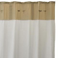 Cortina de baño tela Mariposas 180 cm blanco