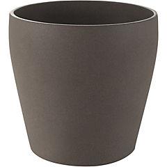 Macetero de cerámica 19 cm Café