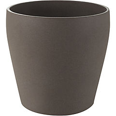 Macetero de cerámica 23 cm Café