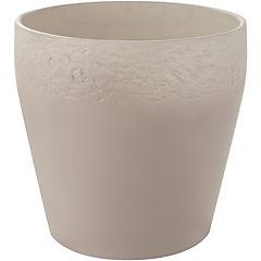 Macetero de cerámica 19 cm Crema