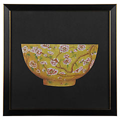 Cuadro Bowl Amarillo 33X33 cm