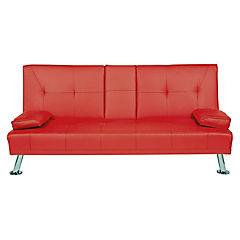 Futón 83x180x86 cm rojo