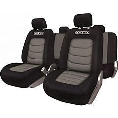Set de fundas para asientos ecocuero Gris 4 piezas