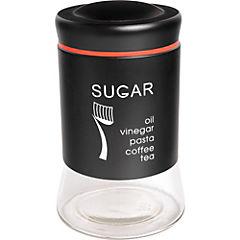 Canister 750 ml vidrio negro