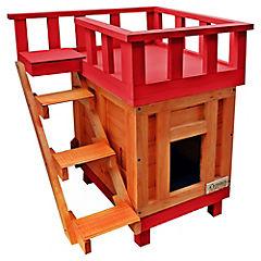 Casa gato terraza chica