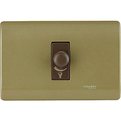Dimmer 300 W Bronce
