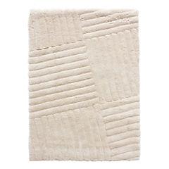 Alfombra Líneas 160x230 cm blanco