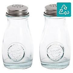 Set de frascos 2 unidades transparente