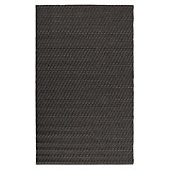 Alfombra punto interior/exterior negra 160x230 cm