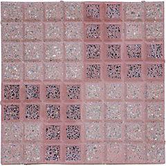Pastelón granítico rojo 40x40 cm doble l