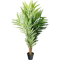 Palmera bambú artificial 90x50x50 cm con macetero