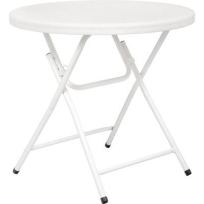 Mesa plegable redonda anne 81x73 cm blanca for Mesa plegable falabella