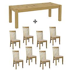 Juego de comedor Lyon 8 sillas Slat