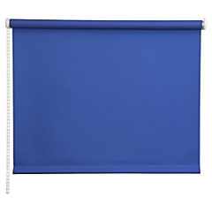 Cortina enrollable Black Out poliéster 80x165 cm azul