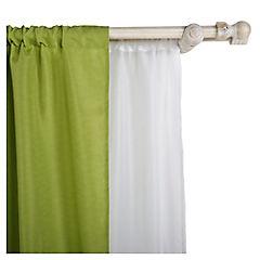 Kit de cortinas + velo 145x220 cm verde