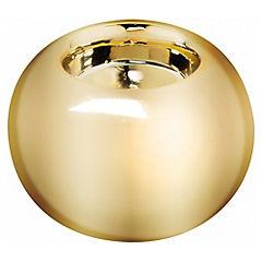 Porta tealight redondo oro 8x5.5 cm