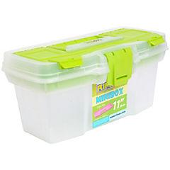 Caja organizadora 6 litros 29x15x14 cm verde
