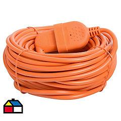 Extensión eléctrica profesional 20 m Naranjo