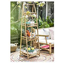 Estante bambú 51x40x150 cm