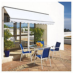 Toldo retráctil awning 3.5x2.5 m blanco