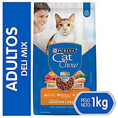 Alimento seco para gato adulto 1 kg carne, pollo y pescado