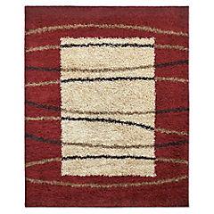Alfombra shaggy 150x200 cm D-07 rojo