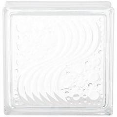 Bloque de vidrio 19x19x8 cm Seawave