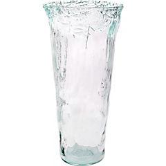 Florero 50 cm vidrio reciclado transparente