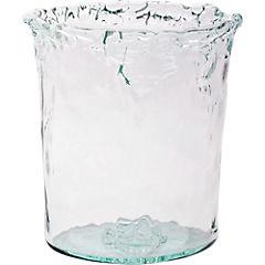 Florero 28 cm vidrio reciclado transparente