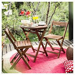 Juego de terraza 3 piezas madera