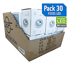 Set de focos LED 50 W 30 unidades