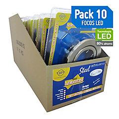 Set de focos LED 50 W 10 unidades