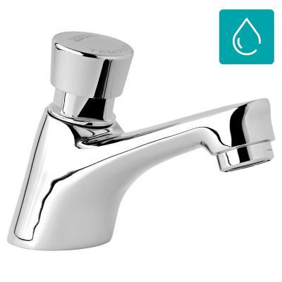Llave individual para lavamanos con temporizador cromado - Grifos con temporizador ...
