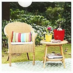 Set de sillón y mesa de apoyo ratán