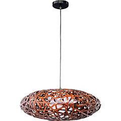 Lámpara de colgar 60W nido bambú 1 luz E27