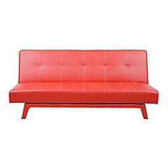 Futón 90x176x77 cm rojo