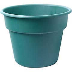 Macetero de plástico 40 cm verde
