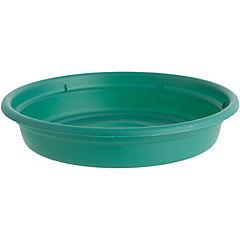 Base de plástico para macetero 15 cm verde