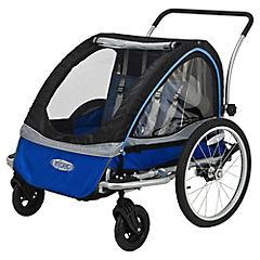 Carro de bebé para bicicleta 129x89x84cm metal