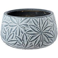 Macetero de cerámica 22x14 cm Gris