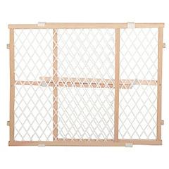 Puerta de seguridad para niños 60x63x7 cm madera Café