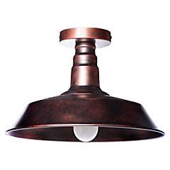 Lámpara de colgar Metal Glasgow Cobre