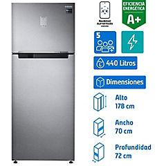 Refrigerador no frost top mount freezer 440 litros silver