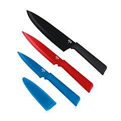 Set de cuchillos 3 piezas con fundas